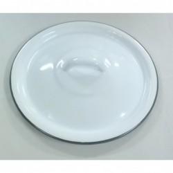 Pokrywa metalowa Biały (śr. 20 cm)