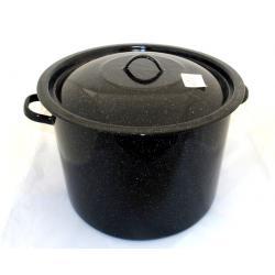 Garnek prosty emaliowany czarny (ŚR. 32cm)